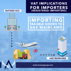 Company in the Mainland import goods from outside GCC. The company must file VAT Return and pay the VAT due.
