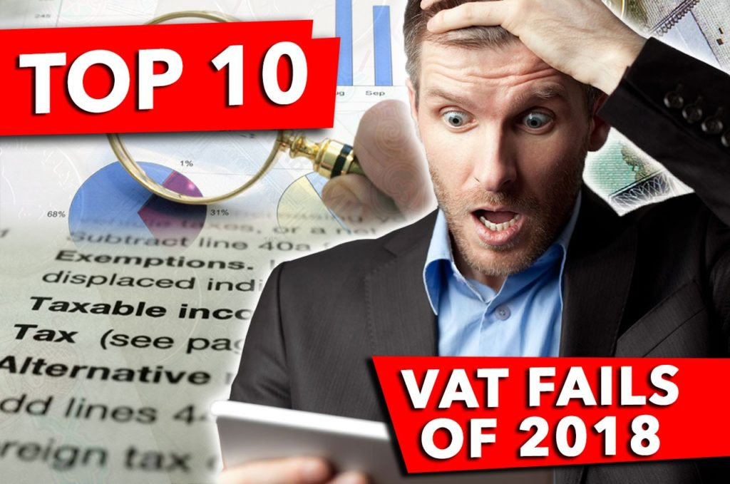 Top 10 VAT Fails of 2018
